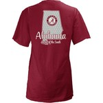Three Squared Juniors' University of Alabama State Monogram Anchor T-shirt