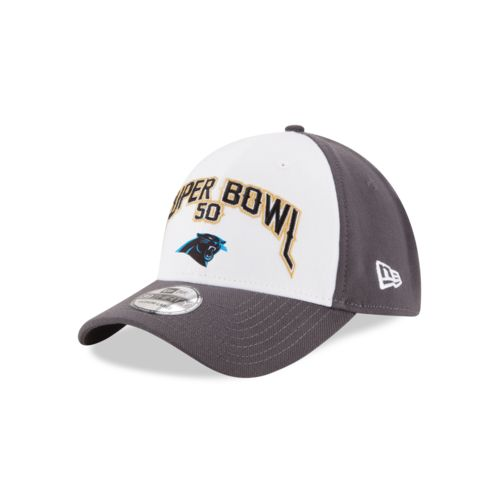 New Era Men's Carolina Panthers 39THIRTY Super Bowl Participation Patch Cap