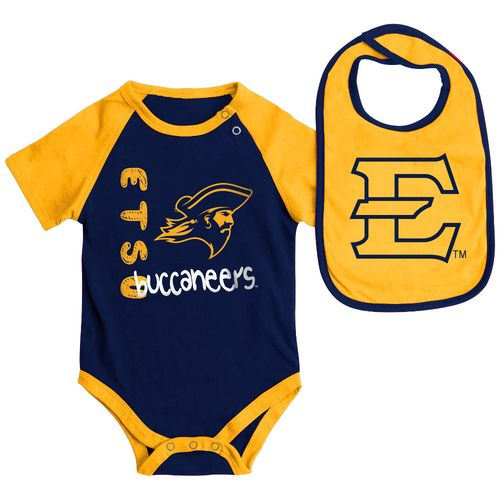 Colosseum Athletics Infants' East Tennessee State University Rookie Onesie and Bib Set