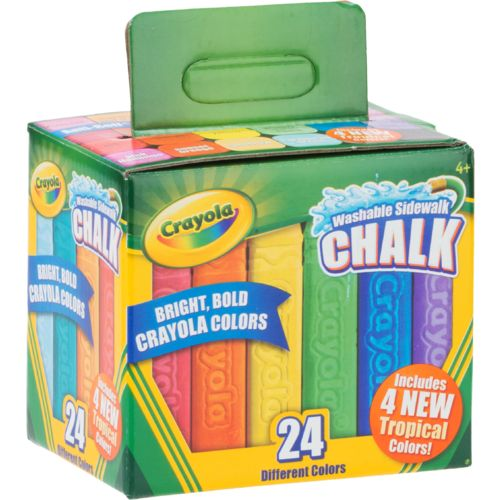 Crayola Washable Sidewalk Chalk 24-Pack