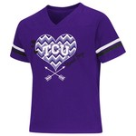 Colosseum Athletics Girls' Texas Christian University Football Fan T-shirt