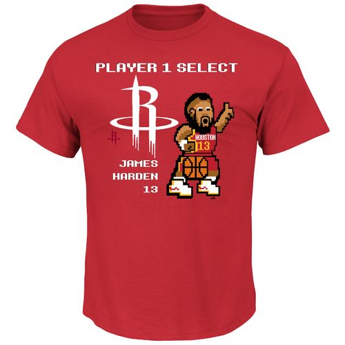 Majestic Men's Houston Rockets James Harden #13 Double Dribble Alternate T-shirt