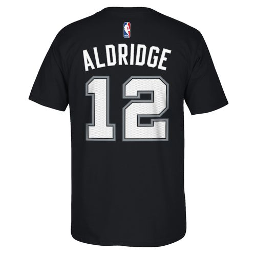 adidas™ Men's San Antonio Spurs LaMarcus Aldridge #12 Game Time High Density T-shirt