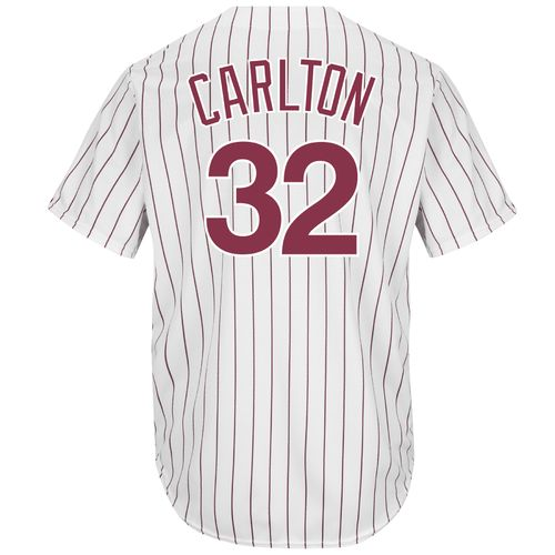 Majestic Men's Philadelphia Phillies Steve Carlton #32 Cooperstown Cool Base 1980 Replica Jersey - view number 1