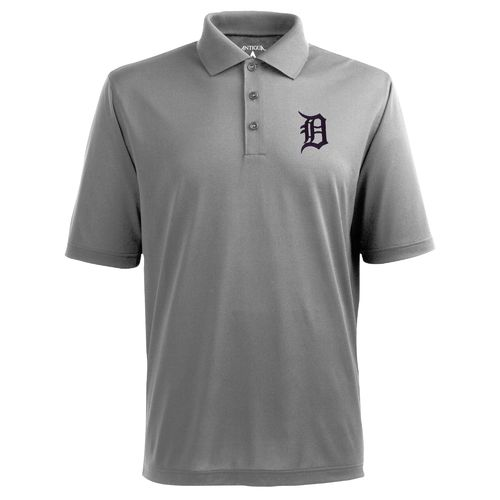 Antigua Men's Detroit Tigers Piqué Xtra-Lite Polo Shirt