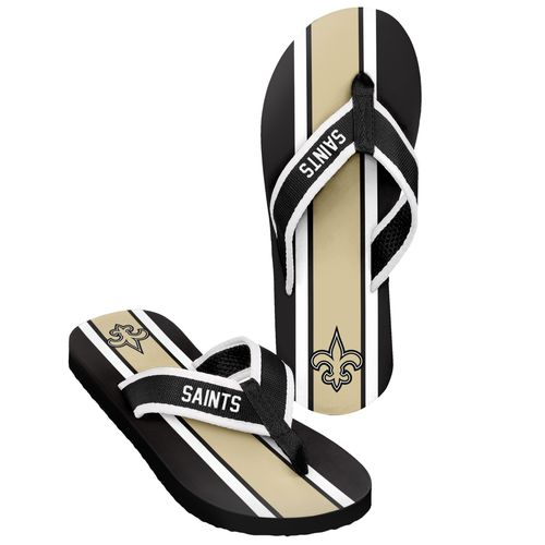 Forever Collectibles™ Men's New Orleans Saints 2016 Contour Stripe Flip-Flops