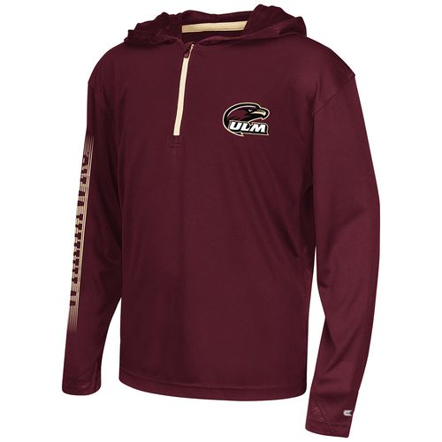 Colosseum Athletics™ Boys' University of Louisiana at Monroe Sleet 1/4 Zip Hoodie Windshirt