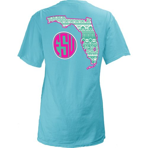 Three Squared Juniors' Florida State University Moonface Vee T-shirt