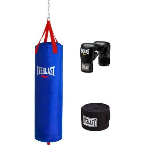 Everlast 70 lb. Polycanvas Heavy Bag Kit (Blue)
