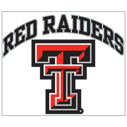 "Stockdale Texas Tech University 8"" x 8"" Vinyl"