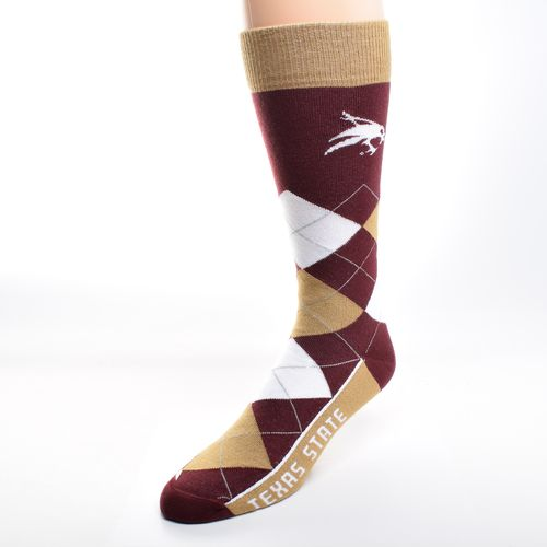 For Bare Feet Unisex Texas State University Team Pride Flag Top Dress Socks