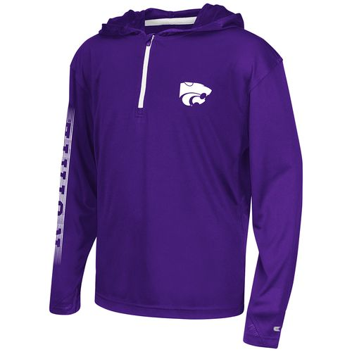 Colosseum Athletics™ Boys' Kansas State University Sleet 1/4 Zip Hoodie Windshirt