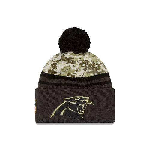 New Era Men's Carolina Panthers Salute to Service Knit Cap