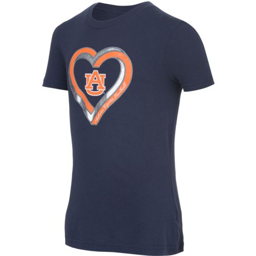 Gen2 Girls' Auburn University Infinite Heart Fashion Fit T-shirt