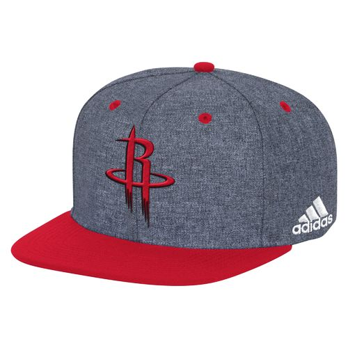adidas Men's Houston Rockets Flat Brim Snapback Cap