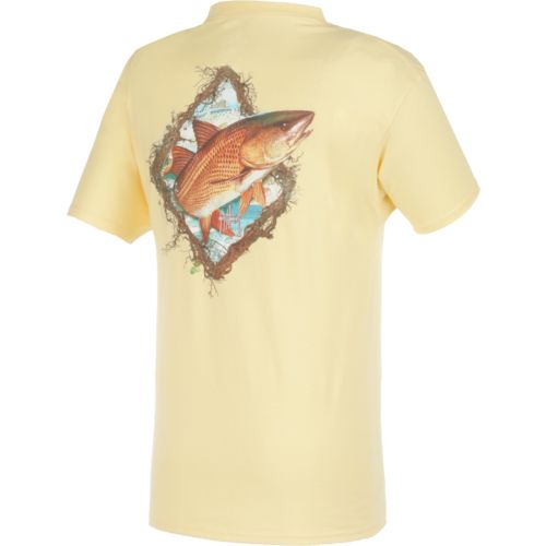 Guy Harvey Men's Redfish Frame Pocket T-shirt