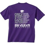 New World Graphics Men's Kansas State University Schedule Graphic T-shirt