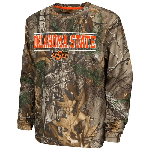 Colosseum Athletics™ Boys' Oklahoma State University Pointer Long Sleeve Camo Shirt