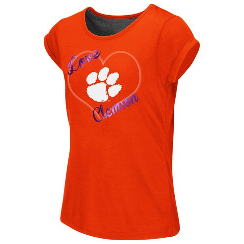 Colosseum Athletics™ Girls' Clemson University Baywatch Split Back T-shirt