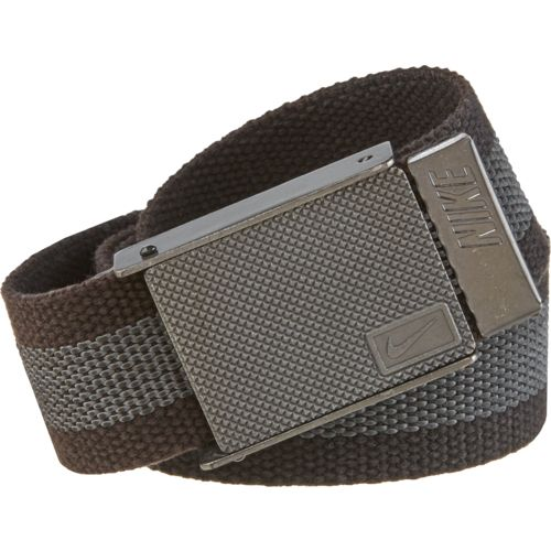 Nike Men's Rubber Inlay Reversible Web Belt