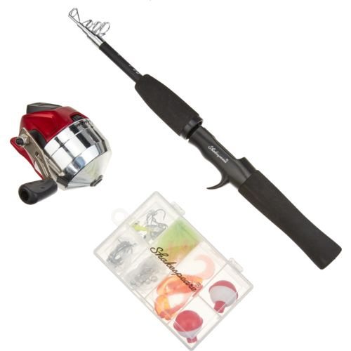 "Display product reviews for Shakespeare® 4'6"" L Complete Telescopic Spincast Fishing Kit"