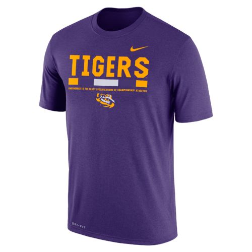 Nike™ Men's Louisiana State University Dri-FIT Legend Staff T-shirt