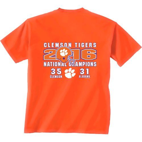 New World Graphics Men's Clemson University 2016 National Champions Score T-shirt