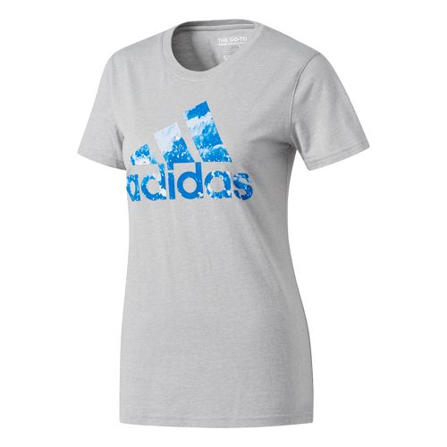 Display product reviews for adidas Women's Badge of Sport Raw T-shirt
