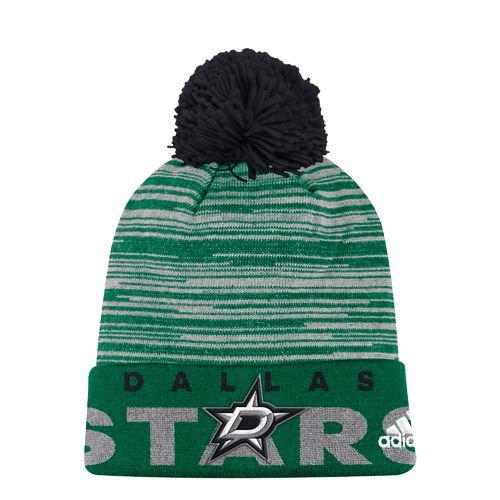 adidas Men's Dallas Stars Cuffed Pom Knit Cap