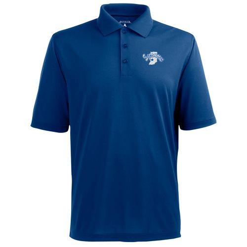 Antigua Men's Indiana State University Pique Xtra-Lite Polo Shirt - view number 1