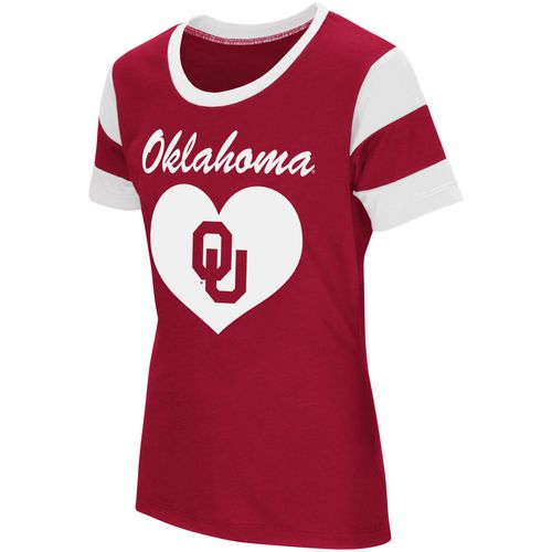 Colosseum Athletics Girls' University of Oklahoma Bronze Medal Short Sleeve T-shirt
