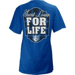 Three Squared Juniors' Saint Louis University Team For Life Short Sleeve V-neck T-shirt - view number 1