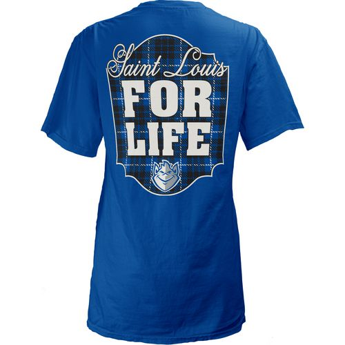 Three Squared Juniors' Saint Louis University Team For Life Short Sleeve V-neck T-shirt