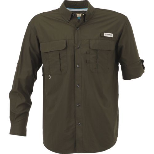 Display product reviews for Magellan Outdoors Men's Laguna Madre Solid Long Sleeve Fishing Shirt