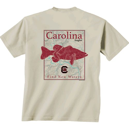 New World Graphics Men's University of South Carolina Angler Topo Short Sleeve T-shirt