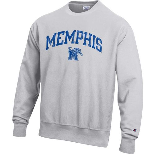 Champion Men's University of Memphis Reverse Weave Crew Sweatshirt
