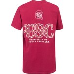 New World Graphics Women's University of South Carolina Comfort Color Initial Pattern T-shirt - view number 1