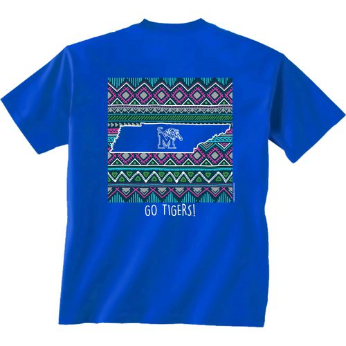 New World Graphics Women's University of Memphis Terrain State T-shirt