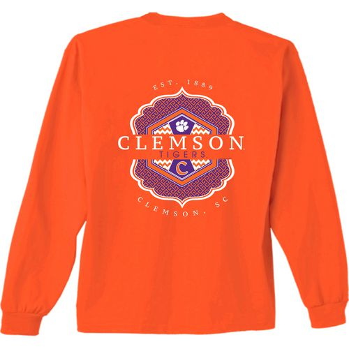 New World Graphics Women's Clemson University Faux Pocket Long Sleeve T-shirt