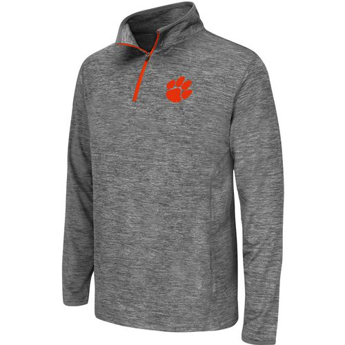 Colosseum Athletics Youth Clemson University Action Pass 1/4 Zip Wind Shirt