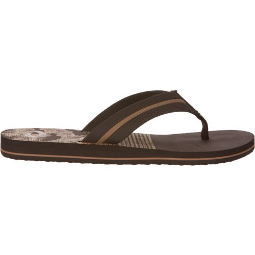 O'Rageous Men's Camo Beach Flip-Flops
