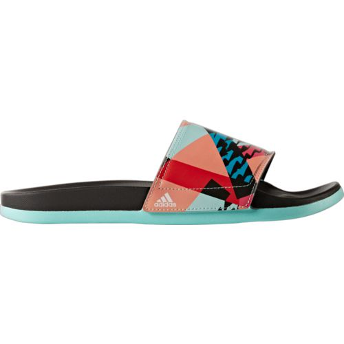 adidas Women's Adilette cloudfoam plus Graphic Slides