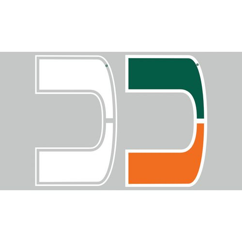 Stockdale University of Miami Sticker Shock High Performance Vinyl Decals 2-Pack