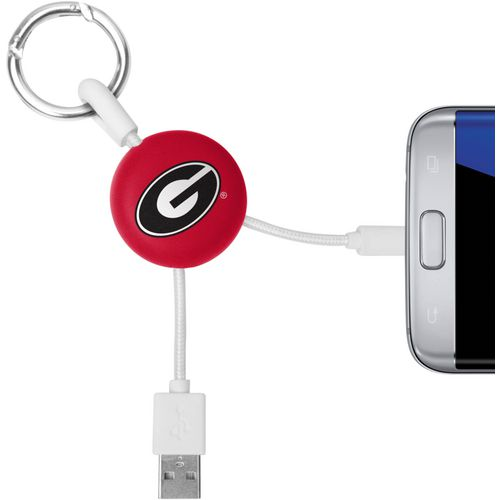 Mizco University of Georgia Micro Phone Charger Keychain Cable