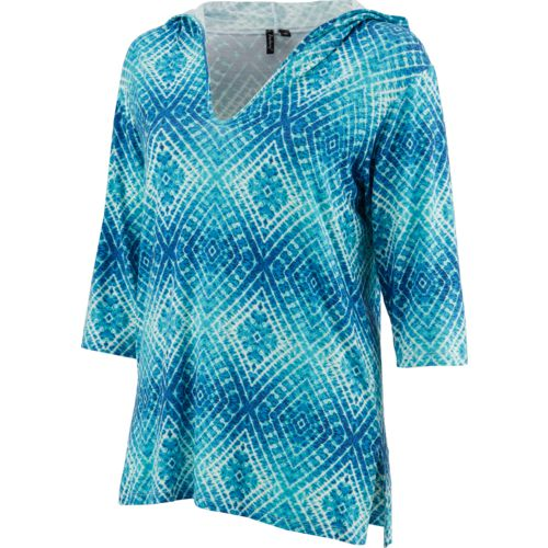 Porto Cruz Women's Pool Party 3/4-Length Sleeve Hooded Cover-Up Tunic - view number 1