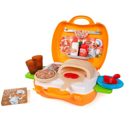 World Tech Toys Pizzeria 22-Piece Suitcase Play Set