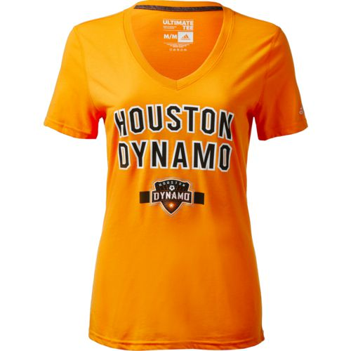 Display product reviews for adidas Women's Houston Dynamo Bold Arch T-shirt