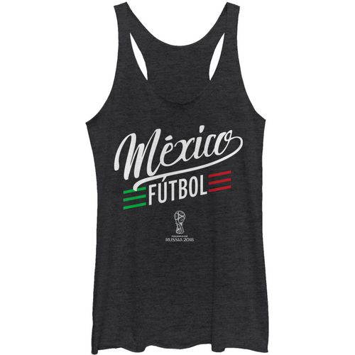 Fifth Sun Women's Mexico Scripted FIFA World Cup Russia 2018 Racerback Tank Top - view number 1
