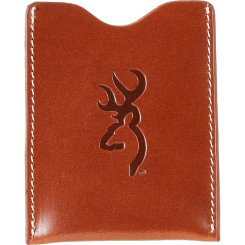 Browning Men's Bandera Cognac Leather Wallet with Clip