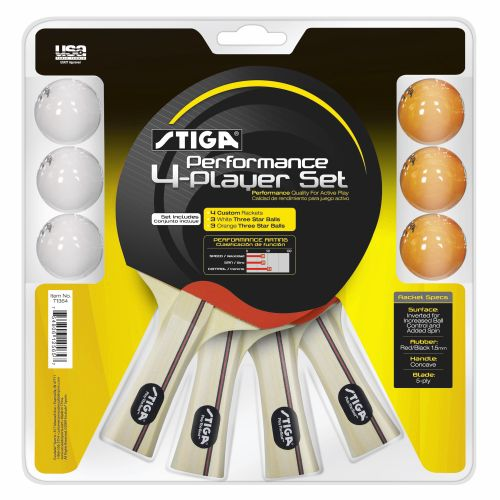 Stiga® Table Tennis Performance Player Racket and Ball Set